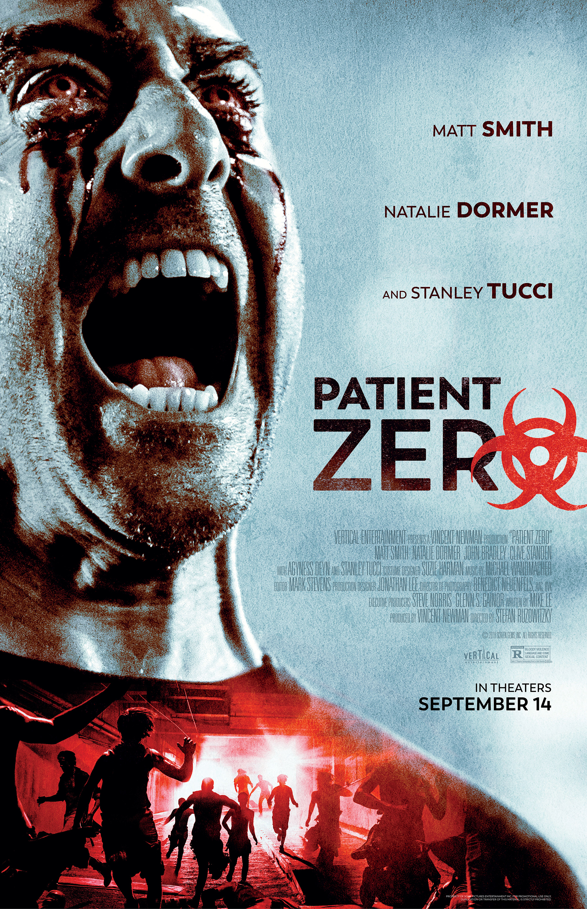 2013 BloodList script PATIENT ZERO by Mike Le gets a poster and release date! #BloodListAlum
