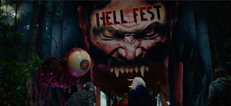 HELL FEST trailer is here. The slasher film hits theaters Sept. 28th! #HellFestMovie